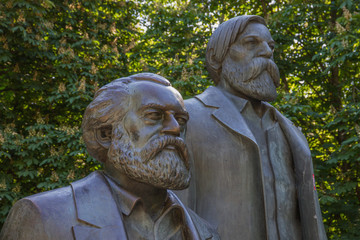 Karl Marx and Friedrich Engels in Berlin-Mitte