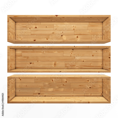 Wooden book shelf background illustration