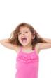child shouting or singing