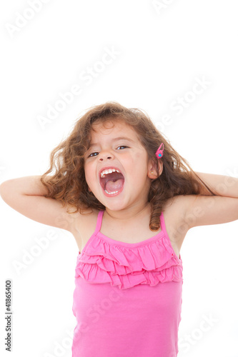 child shouting or singing