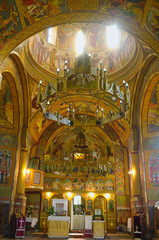 The Orthodox Church of Alun's painted interior