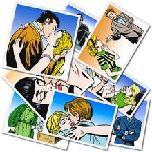 Coleccion de Ilustraciones con Parejas Enamorados de