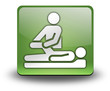 "Green 3D Effect Icon ""Physical Therapy"""