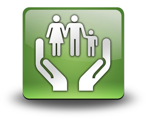 "Green 3D Effect Icon ""Social Services"""