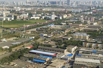 Top view of  Urumqi city. China