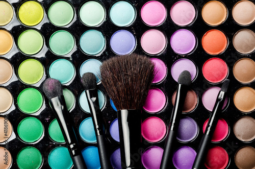 Multi colored make-up