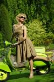 Fototapete Gestalten - Motorrad - Beim Fahren
