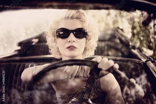Fototapeten,antikes,autos,kabrio,fahren