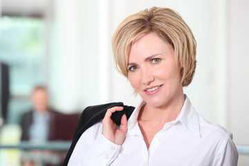 Portrait of a blonde-haired businesswoman