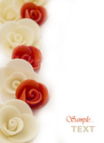 artificial roses background poster