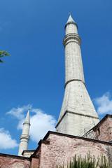 The Minaret of Hagia Sophia, Istanbul.