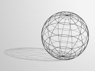 Elegant globe symbol