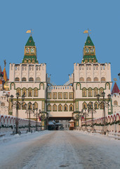 Beautiful gate of Izmailovo kremlin, Moscow