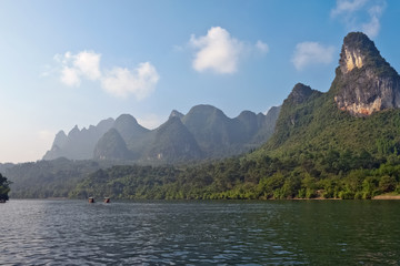 Li river near Yangshuo Guilin Mountains