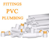 Fittings PVC and pipes made of polypropylene