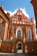 St. Anne's and Bernardinu Church in Vilnius, Lithuania