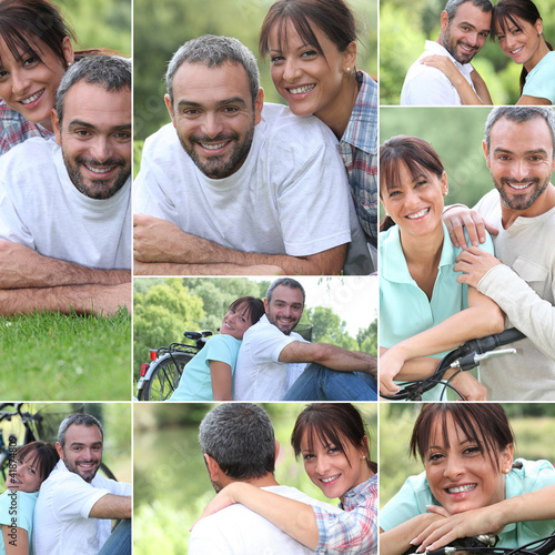 Collage of a couple enjoying a summer's day together