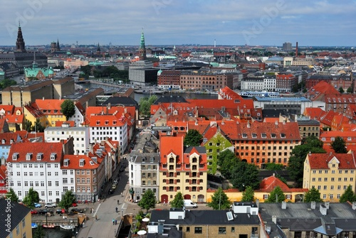 Copenhagen panoramic view