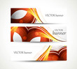 abstract new wave three header set banners vector