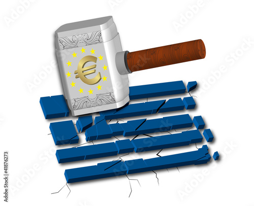 Euro Causes Recession at Greece
