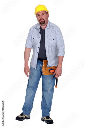 A tired tradesman