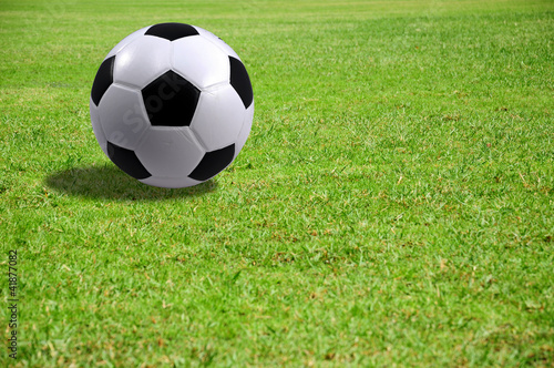 A Football in the soccer field