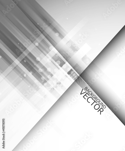 Abstract technology lines gray wave vector