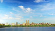 Central Park with Manhattan skyline time lapse in New York City