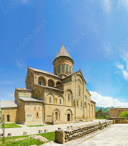 panorama of famous symbol of christianity, Georgia