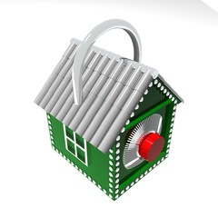 3D Concept of a safe house