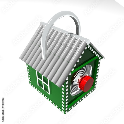 3D Concept of a safe house