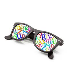 occhiali alfasbeto