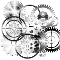 set of gears wheels