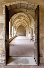 Cloister of the ancient church of Brou, Bourg-en-Bresse