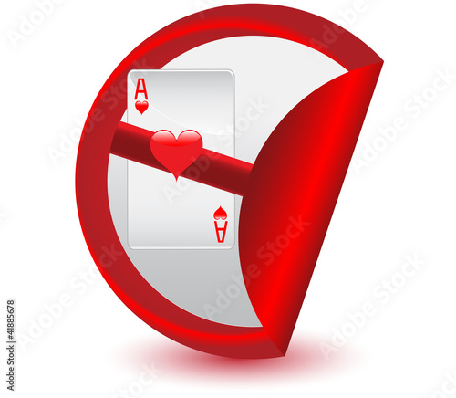 No gambling sticker.Vector