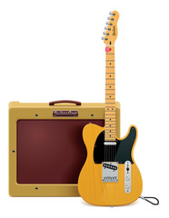 Vector guitar and amp icon