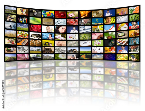 Television production concept. TV movie panels - 41887282