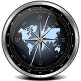 Fototapety blue compass