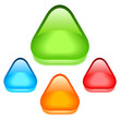 Blank triangular glass icons, vector illustration