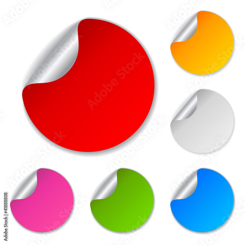 Blank colored vector stickers