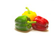 Color paprika (pepper) isolated on a white background