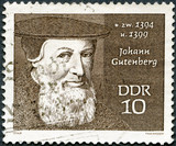 GERMANY - 1970: shows Johann Gutenberg (1400-1468)