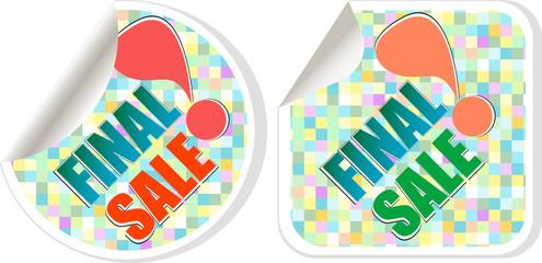 Final sale - best discount sale stickers set