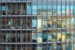 canvas print picture - office building reflecting Berlin