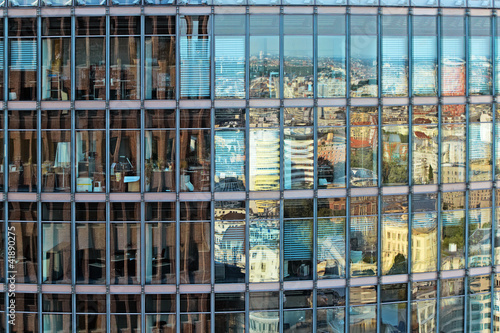 canvas print picture office building reflecting Berlin