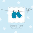 Baby boy shower invitation card
