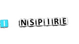 3D Think Inspire Crossword on white background