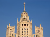 Top of Stalinist Residential house in Moscow