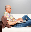 senior man with computer