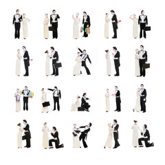 set of mimes isolated on white